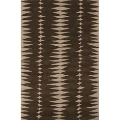 Tear Drops Rug in Deep Taupe and Coffee Bean