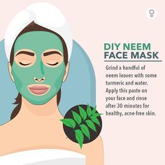 Diy Neem Face Mask🍃 Use this for 30 mins on your face, then Rinse it off. Use this mask times a week excess use will intend to make your skin extremely dry as it absorbs the oil of your skin. Beauty Tips For Face, Health And Beauty Tips, Health Tips, Natural Facial, Natural Skin Care, Natural Health, Beauty Care, Beauty Skin, Beauty Hacks