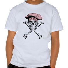Chef Skull Crossbones Pink Shirts