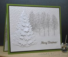Stamping and Quilting From The Heart: A Christmas Card Christmas Card Crafts, Homemade Christmas Cards, Christmas Tree Cards, Xmas Cards, Homemade Cards, Holiday Cards, Wood Stamp, 3d Cards, Winter Cards