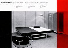 Zurich Wohnbedarf firm was a pioneer in furniture manufacturing in Switzerland International Typographic Style, International Style, Sans Serif, Graphic Design Inspiration, Graphic Design Art, Contemporary Furniture, Contemporary Design, Swiss Style, Swiss Design