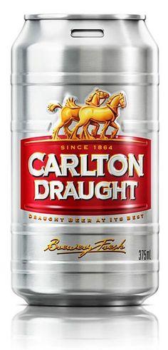 Rediseño de la lata de cerveza Carlton Draught | http://blogvecindad.com/rediseno-de-la-lata-de-cerveza-carlton-draught/