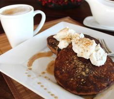 Gingersnap Pancakes With Ginger Syrup 'N' Cream