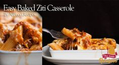 Facebook Pinterest ------------------------------- ------------------------------- If you are looking for a quick and delicious dinner, this is one of our favorites! this Baked Ziti Casserole, is delicious versatile and very easy to do, just 20 minutes of preparation, throws it in the oven and get a great dinner Easy Baked Ziti Casserole Prep Time: 20 minutes Start to Finish: 30 minutes Makes: 6 servings Ingredients Cooking Spray 8 oz. Dry Ziti 1 lb. Ground Sirloin Beef 1 can (26 oz)…