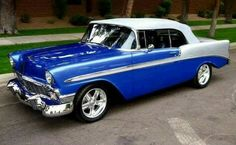1956 chevy convertible , nice paint !