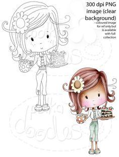 Let's Have coffee and cake -Winnie Sugar Sprinkles - Digital Stamp download
