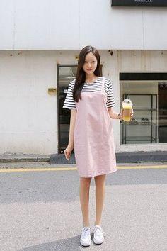 Stripes Melody Dress | Korean Fashion                                                                                                                                                      More #KoreanFashion