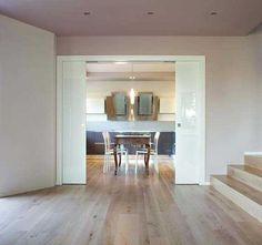 Pocket doors can be a great option for small rooms in self-builds and renovations, as well as providing a stylish and practical addition to open plan spaces Double Sliding Doors, Sliding Door Systems, Interior Barn Doors, Interior And Exterior, Barn Renovation, Palette, Design Your Home, Pocket Doors, Small Rooms