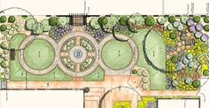 Landscape Plan Drawing - Home Design Ideas Design Patio, Garden Design Plans, Landscape Design Plans, Plan Design, Design Ideas, Sketch Style, Plan Image, Landscaping Trees, Landscaping Design