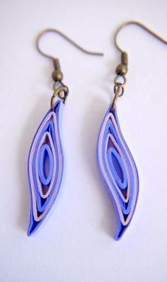 paper quilling earrings!