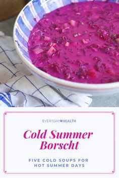 Try a #cold soup to get yourself through a hot #summer day.