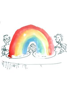 "Quentin Blake imagines ""real, portable"" rainbows you can send as free e-cards Its Nice That, As You Like, Learn To Draw, How To Draw Hands, Punch Magazine, Mindfulness App, Quentin Blake, Rainbow Theme, House Illustration"