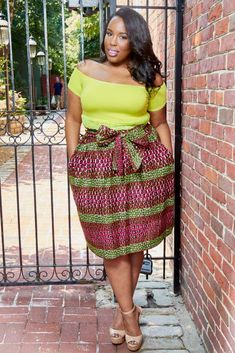 The best collection of latest and most Beautiful Ankara Skirt Styles For Chubby Ladies. These plus size ankara skirt styles were particularly selcted to make every plus size and thick lady glow in ankara skirt styles and designs Unique Ankara Styles, Beautiful Ankara Styles, Ankara Gown Styles, African Print Skirt, African Print Fashion, Fashion Prints, Fashion Styles, African Prints, Fashion Ideas