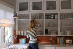 I love the look of open cupboards, but they're so impractical...