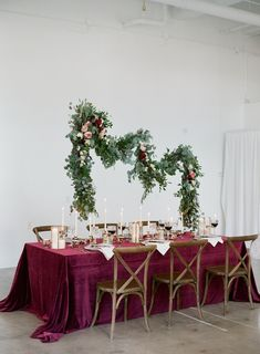 La Tavola Fine Linen Rental: Velvet Pinot with Tuscany White Napkins | Photography: Almond Leaf Studios, Event Planning: HART & CO. Events, Floral Design: Springvine Design, Rentals: Classic Event Rental