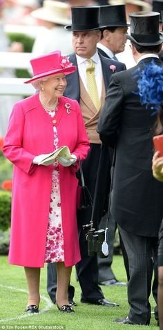 dailymail:  Royal Ascot 2015, Day 1, June 16, 2015-Queen Elizabeth and the Duke of York