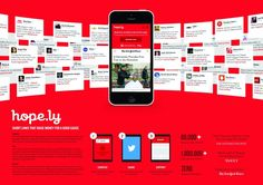 """American Red Cross & Bitly - """"Hope.Ly"""" Cannes Lions International Festival of Creativity 2015 Advertising Awards, Clever Advertising, Advertising Design, Ads, Lions International, International Festival, Online Presentation, Presentation Boards, Social Campaign"""