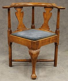 wooden corner chair folding chairs camping 88 best images antique furniture lot 3125 maple alderfer auction appraisal circa 1780 h 32 in