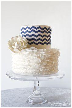 A Lovely Preppy-Chic Wedding Cake by The Pastry Studio: Daytona Beach, Fl