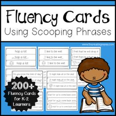 K-2 Fluency Cards Using Scooping Phrases – This Reading Mama