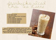 Chai Tea Latte drinks