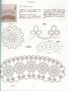 27 Tatting Patterns - Tatting Lesson - Japanese Tatting Ebook - Tatting Lace…