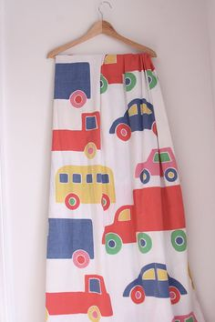 Marimekko vintage sheet set twin with cars by fuzzymama on Etsy, $25.00
