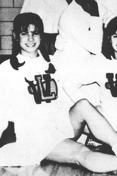 Sandra Bullock - high school cheerleader