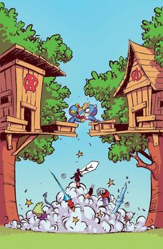 """Imposibles Vengadores 33Una colección ligada a """"Secret Wars"""". Con el tercer capítulo de """"Peque Marvel: VvX"""". Nuestros héroes pueden ser pequeños, pero madre mía… ¡Nunca se rinden! La tierra de Marvelvilla te ofrece la superbatalla más divertida de todas, con guión y dibujo de Skottie Young, el autor de Mapache Cohete."""