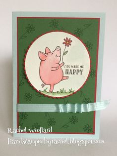 This Little Piggy- Stampin' Up! This Little Piggy, Little Pigs, Purple Cards, Stampin Up Catalog, Fun Fold Cards, Animal Cards, Pretty Cards, Scrapbooking, Stamping Up