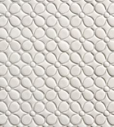 Walker Zanger White Gloss TILT Daisy Mosaic