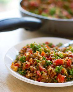 Sautéed Garlic & Tomato Lentil Salad