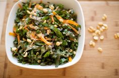green chard salad--I change the dressing up a bit, adding pine nuts, or pistachios (both are sweet) for a balanced flavor.