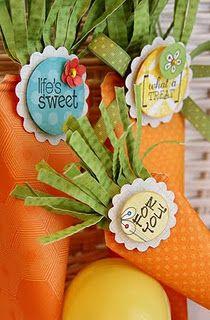 DIY Easter carrot treat holders