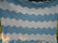 New blue and white baby blanket girl/boy Tar Heel by ToScotland, $40.00