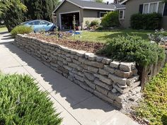 Retaining Wall with broken concrete- instructions