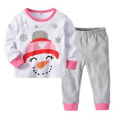 Little Boys Girls Christmas Pajamas Cotton Sleepwear Long Sleeve Pjs Set - Pink - - Girls' Clothing, Sleepwear & Robes, Pajama Sets # # Toddler Christmas Pajamas, Toddler Pajamas, Christmas Clothes, Toddler Girl Romper, Carters Baby Girl, Baby Boys, Kids Girls, 2 Piece Outfits, Girl Outfits
