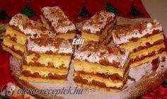 HAVASI GYOPÁR RECEPT.Még egy süti, aminek az ünnepi asztalon a helye! Hungarian Desserts, Hungarian Recipes, My Recipes, Cake Recipes, Cooking Recipes, Torte Cake, Sweet Life, Waffles, Bakery