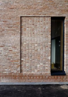 - facade- Grey brickwork of terraced London house Architecture Design, Minimalist Architecture, Garden Architecture, Brick Cladding, Brickwork, Brick Design, Facade Design, Brick Building, Building Design