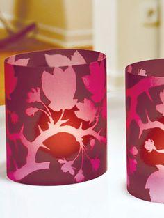 3 Windlichter aus transparentem Papier ergeben eine stimmungsvolle Lichtquelle