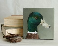 Painting ideas animals canvases canvas art 37 ideas for 2019 Paintings Famous, Cool Paintings, Animal Paintings, Bird Canvas, Canvas Art, Canvas Ideas, Duck Drawing, Painting & Drawing, Canvas And Cocktails