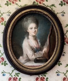 Portrait of  woman, 18th century, French school