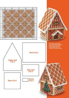 Crochet Christmas Decorations, Crochet Decoration, Christmas Crochet Patterns, Christmas Embroidery, Plastic Canvas Stitches, Plastic Canvas Tissue Boxes, Plastic Canvas Crafts, Plastic Canvas Patterns, Cross Stitch House