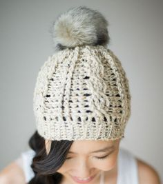 Cute Cabled Beanie.