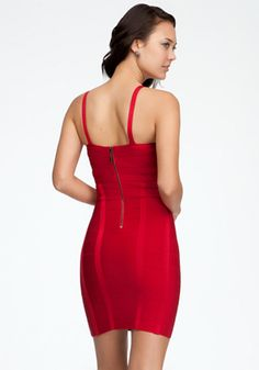 bebe | Crisscross Bandage Dress - Cocktail Dresses