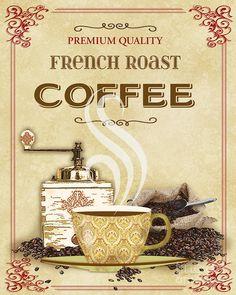 French Roast Coffee-jp2251 Digital Art