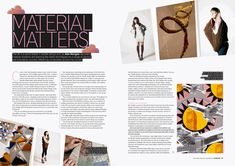 Textiles magazine spread