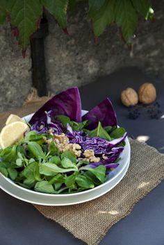 Een prachtige kleurige salade vol ijzer en vitamine C.