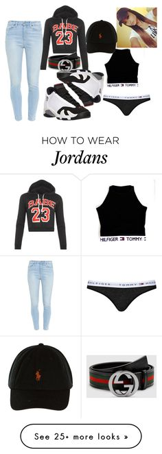 """BABE"" by itsjustmedaddy on Polyvore featuring WearAll, Paige Denim, Retrò, Gucci and Topshop"