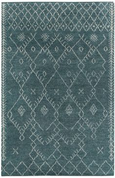 The Diamond style in Aqua, a member of our Kasbah collection, is a wool, transitional rug design from Capel Rugs. Kasbah-Diamond rugs have a trellis pattern and a Ikat pattern and a hand knotted construction.